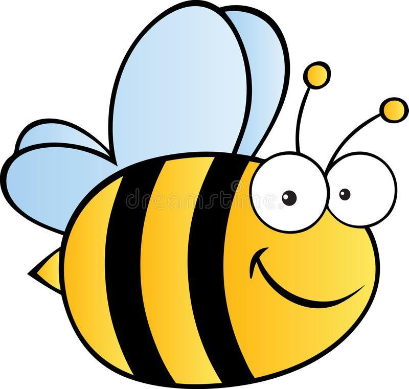 Cute Cartoon Bee Smiling Bee In Yellow And Black Flies Happily Aff Bee Smiling Cute Cartoon Flies Ad Cartoon Bee Bee Pictures Art Bee Sketch