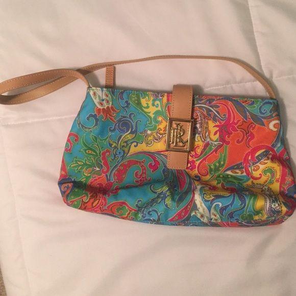 f6e29ef87952 Ralph Lauren Paisley Purse Only worn twice. So cute! Perfect Christmas Gift  Ralph Lauren Bags