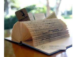 Make This Business Card Holder From Old Books Postcard Book Folded Book Art Business Card Holders