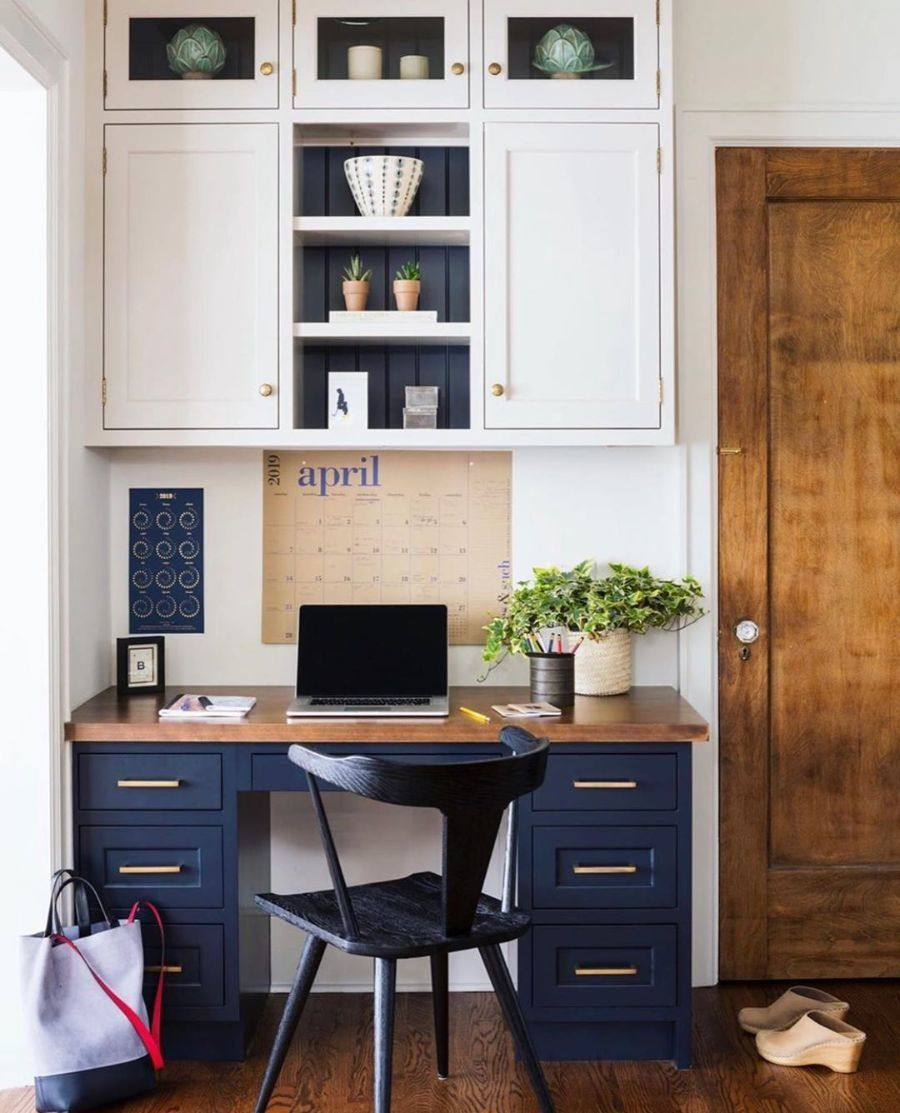 13 Desks That Prove You Don T Need An Entire Room For An Amazing Home Office In 2020 Kitchen Desks Home Office Decor Home Office Design