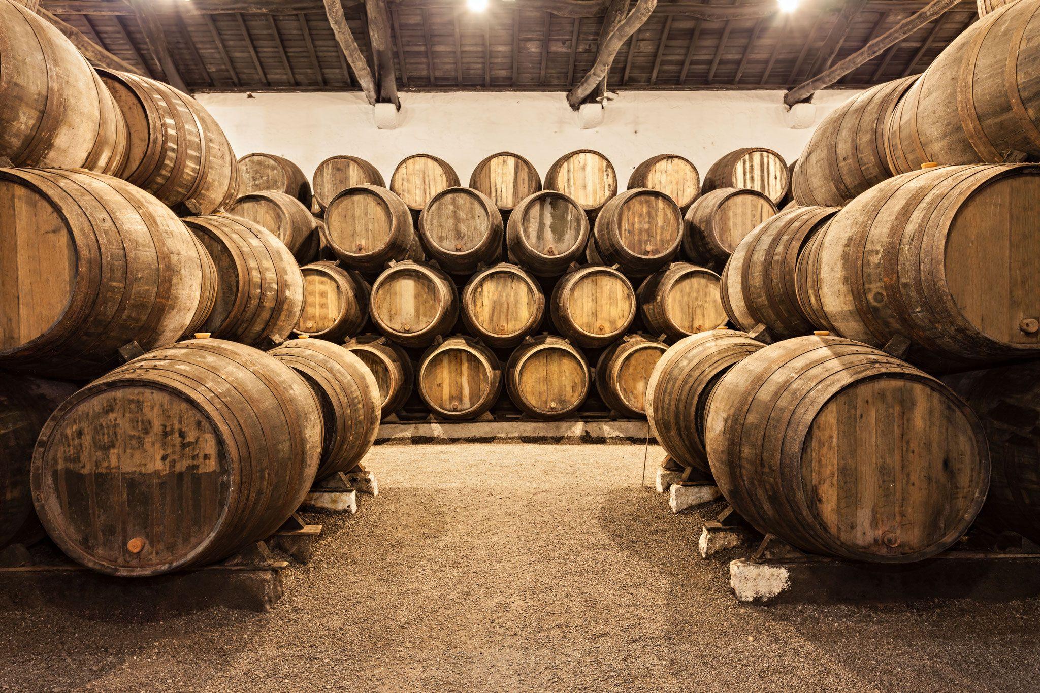 Barrels in the wine cellar, Porto, Portugal - Copyright saiko3p