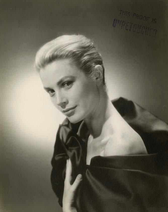 Grace Kelly, un-retouched studio photo by Bud-Fraker