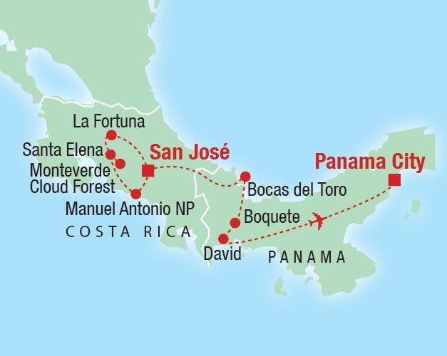 Costa Rica and Panama 14 days Wanderlust Pinterest Panama