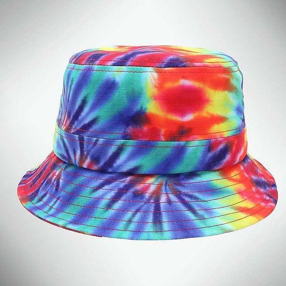 Tye Dye Bucket Hat M L Tye dye bucket hat worn once brand new condition  Accessories Hats bf3c481482a1