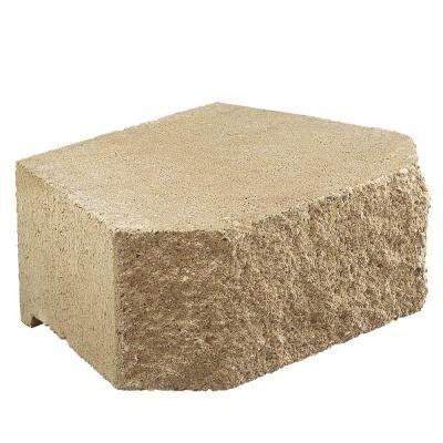 15 5 In X 12 In Tan Diamond Concrete Wall Block 82105 The Home