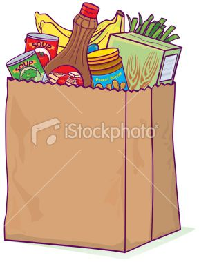 grocery bag clip art free grocery bag illustration places to rh pinterest com brown grocery bag clip art Plastic Grocery Bags Clip Art