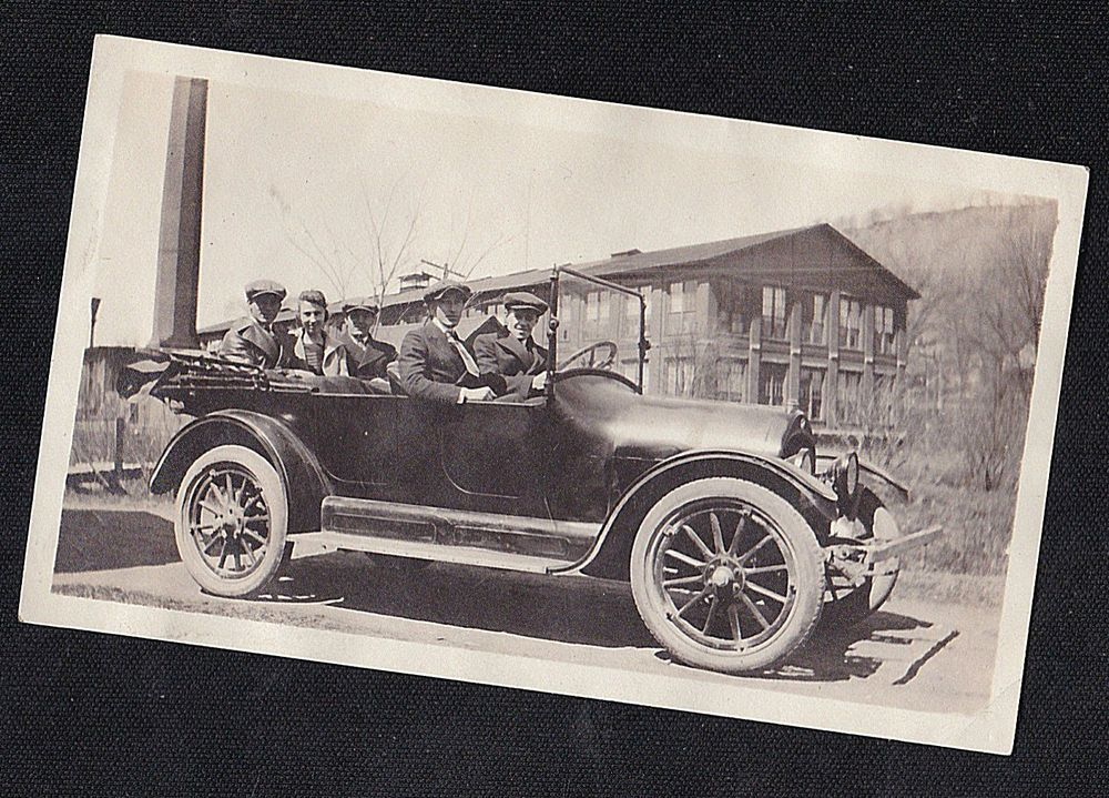 Vintage Antique Photograph People Riding in Cool Old Antique Car ...