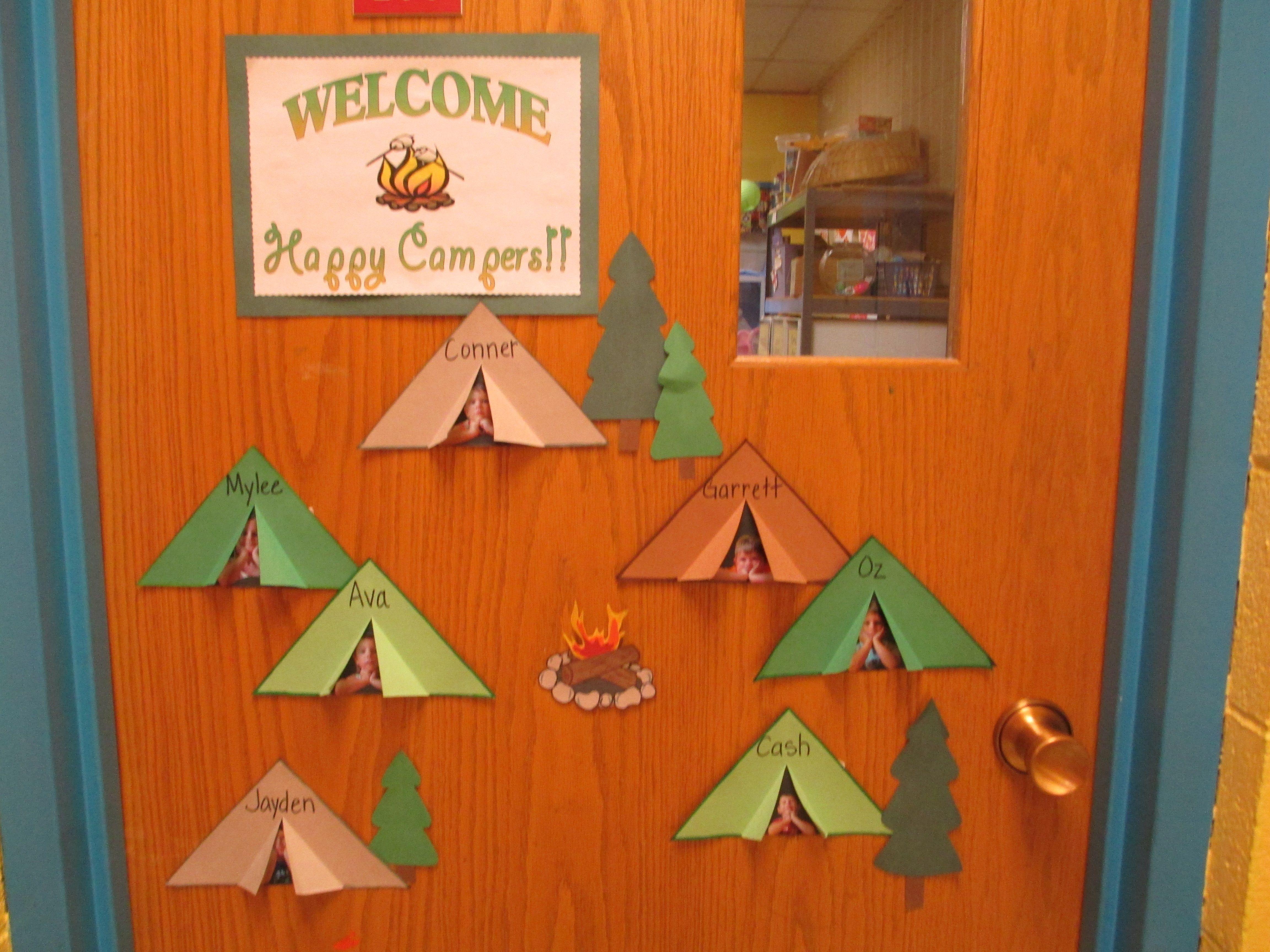 Welcome Happy Campers Door Decor