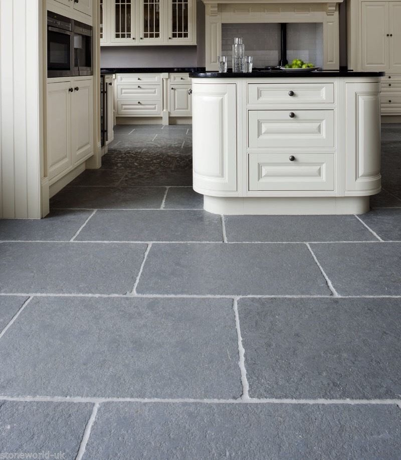 Gray Slate Kitchen Floor: Sample Of Tumbled Cathedral Ash Grey Limestone Floor Tiles Slabs Aged Flagstones