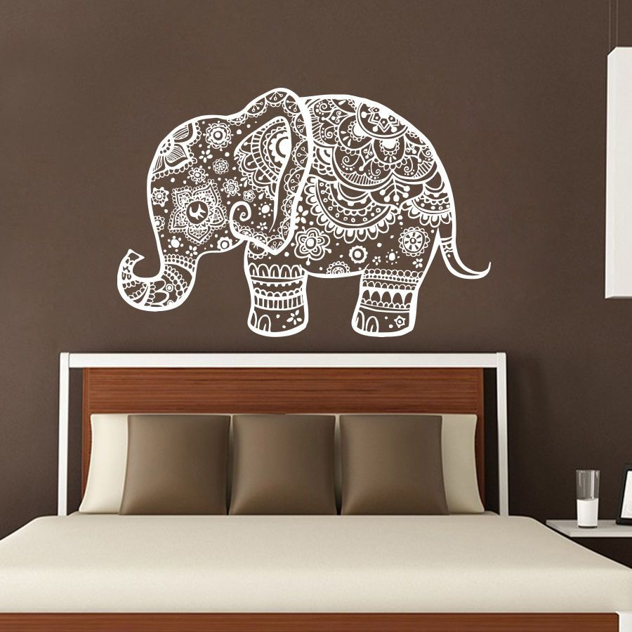 cheap tejer indinan elefante tatuajes de pared dormitorio pegatinas de pared desmontable decoracin de buda mandala