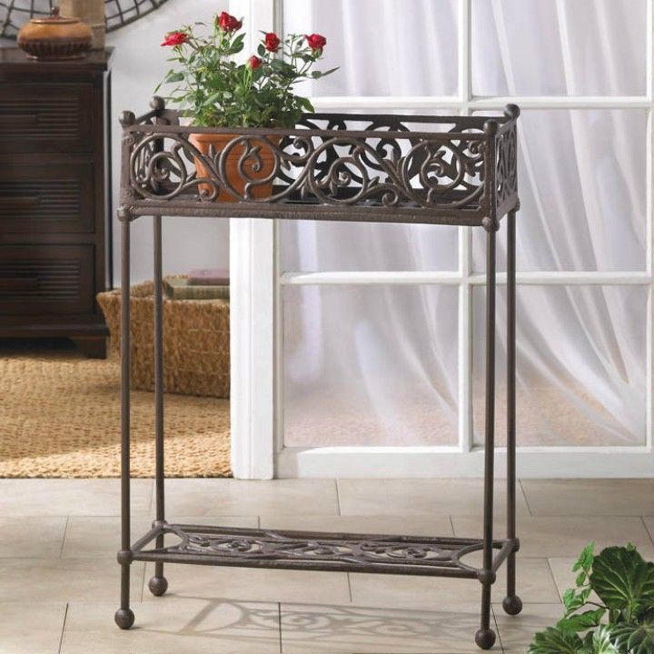 Cast Iron Rectangular Plant Stand From Branch Out Home Goods For