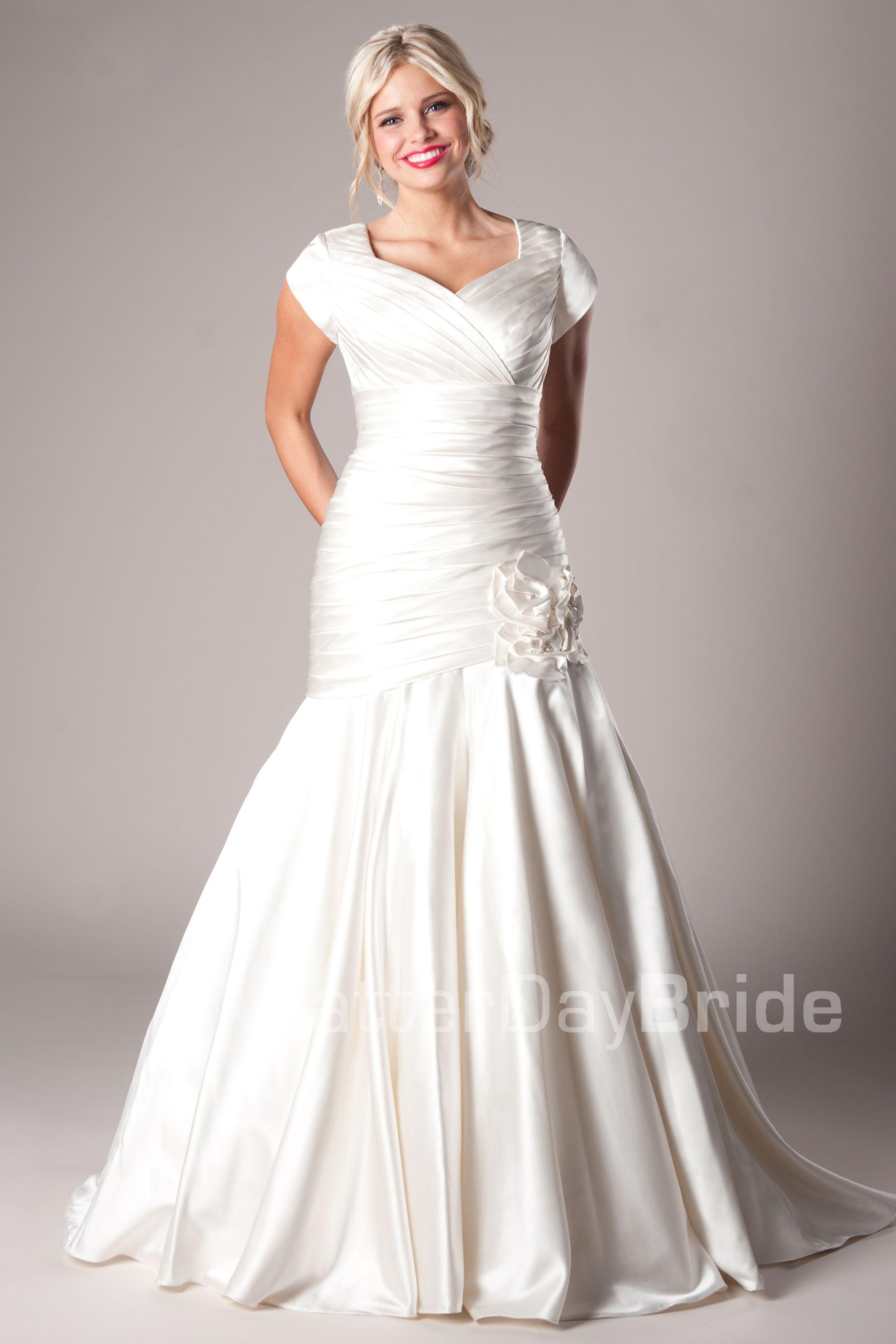 Modest Wedding Dress - Modest Mormon LDS Temple Marriage Morrison ...