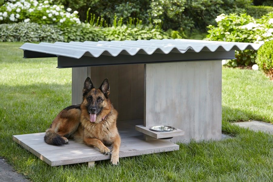 10 Architects Create Stylish Doghouses For A Good Cause Architectural Digest In 2020 Luxury Dog House Cool Dog Houses Dog Houses