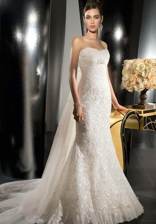 Decent Mermaid Lace Satin Empire Organza Wedding Dresses   Lace ...