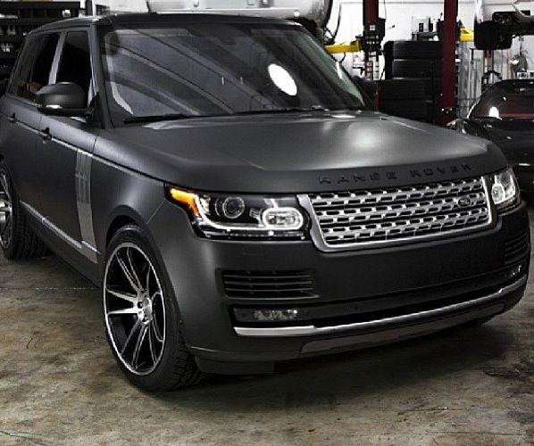 Matte Black Range Rover. Perfection!!