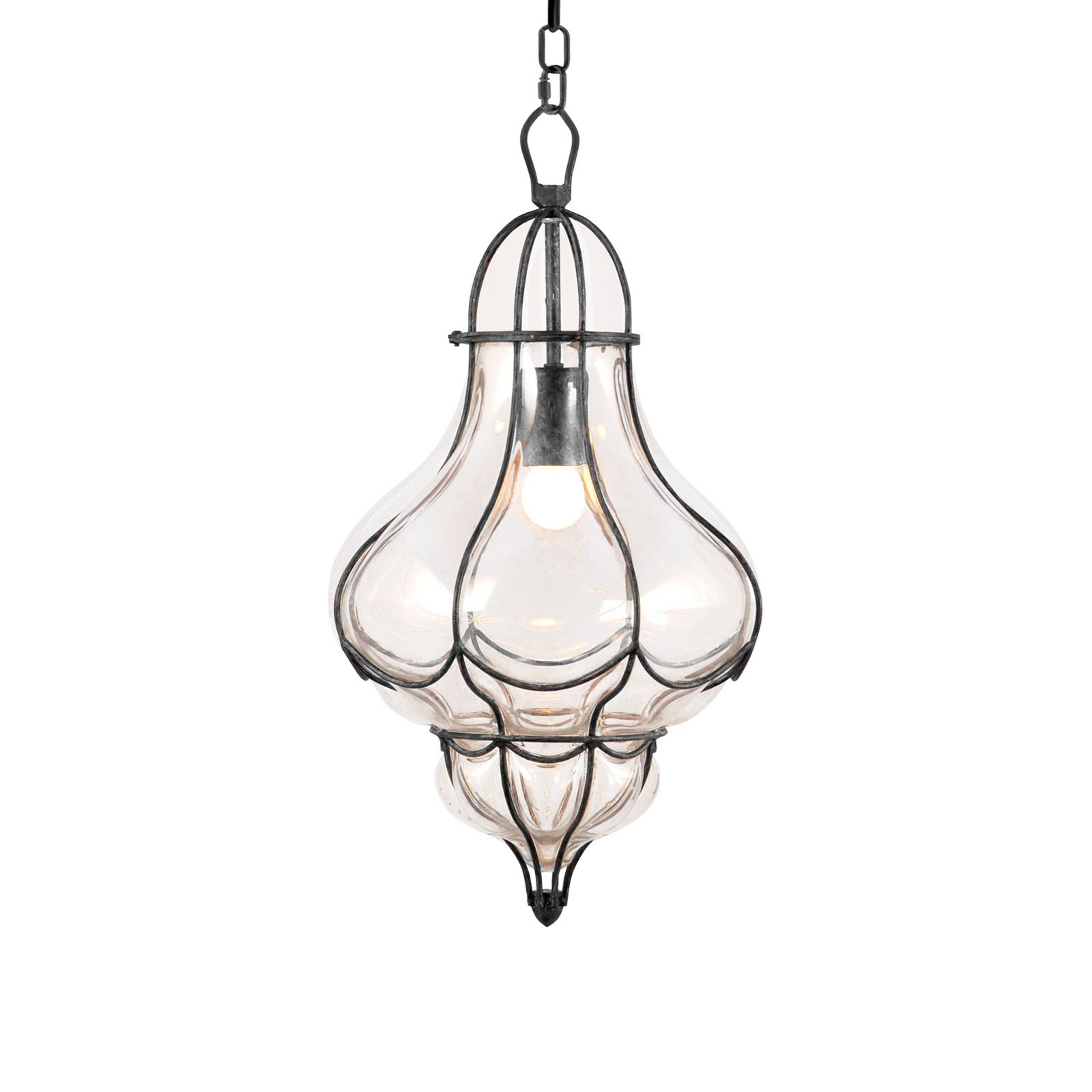 Inspired By Old Fashioned Lamp Designs This Chauncey Pendant Light Features Antiqued Framing And Gorgeously Curved Clear Glass Elegant Design Will