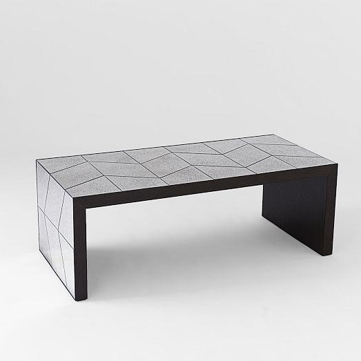 Herringbone mirror coffee table west elm buy two 379 for Buy modern coffee table