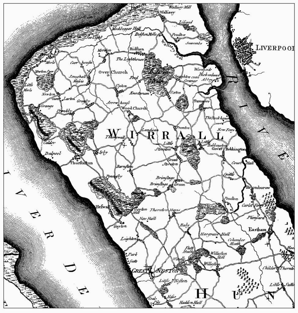 Map of Wirral in 1776 wirral Pinterest