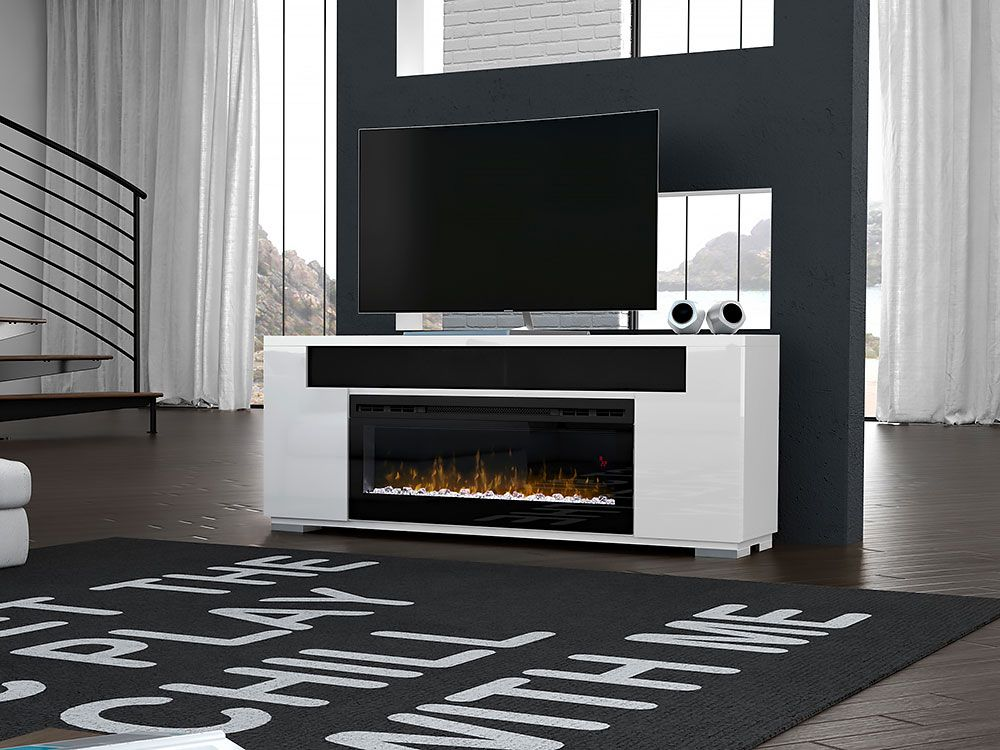 Haley Electric Fireplace Entertainment Center In White Fireplace Entertainment Fireplace Entertainment Center Electric Fireplace Entertainment Center