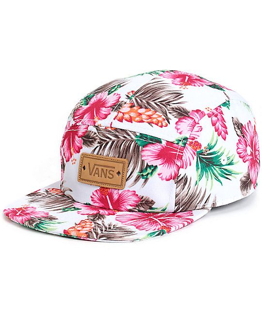2d47f7da9ff Add some Aloha to your look with this tropical floral print camper hat that  features a