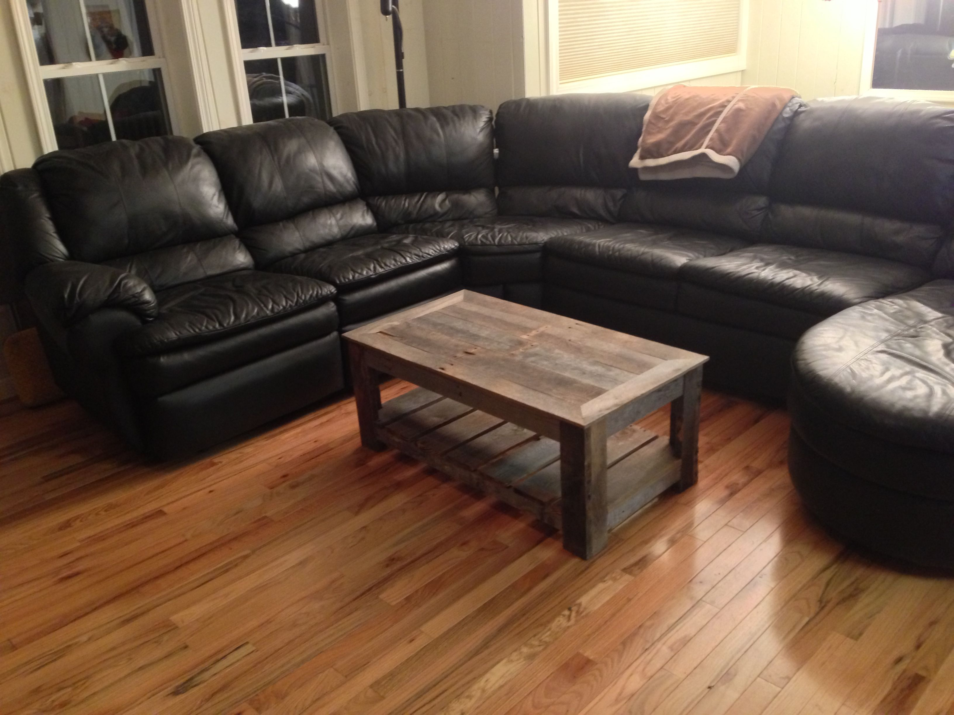 Weathered wood coffee table Smoky Mountain Woodworks