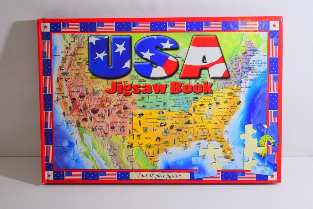 USA Jigsaw Book Four 48 Piece USA