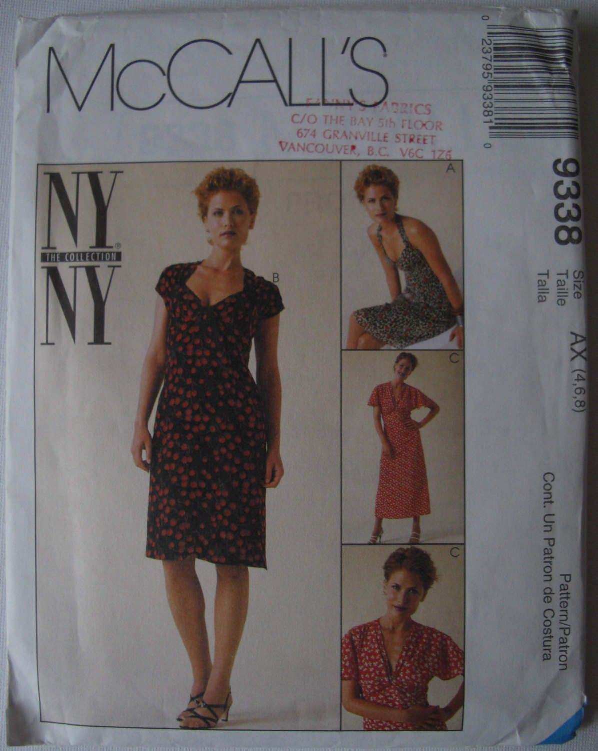 """McCalls Vintage NY NY Collection Sewing Pattern Halter Style Dress/ 20""""s Inspired Dress/Sweet Heart Neck line   Un-Cut by BettyBobbincase on Etsy"""