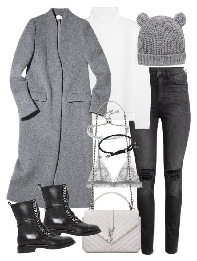 """""""Untitled #19489"""" by florencia95 ❤ liked on Polyvore featuring H&M, Vanessa Bruno, MANGO, Yves Saint Laurent, Casadei, Monica Vinader, David Yurman, women's clothing, women's fashion and women"""