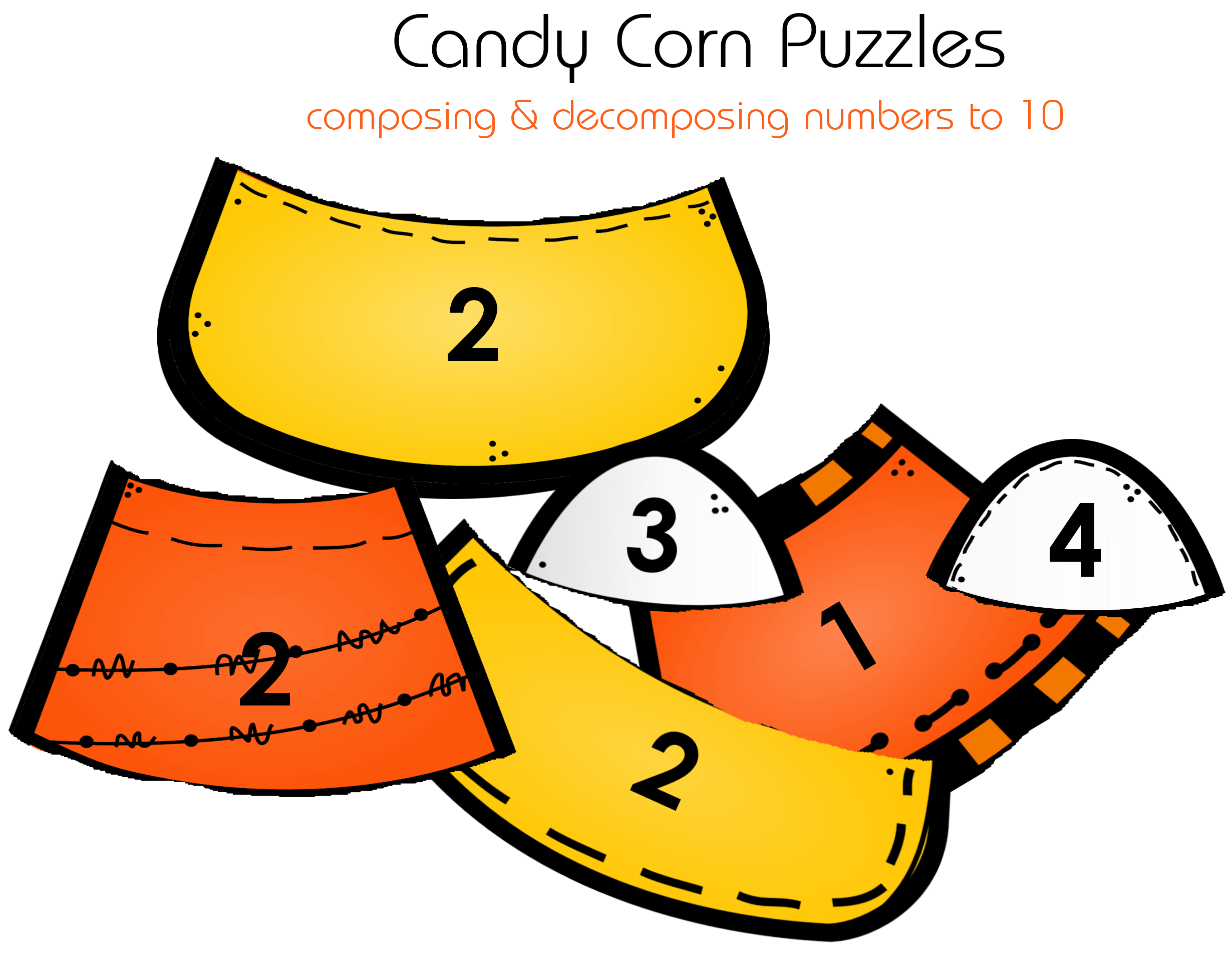 Candy Corn Puzzles Composing Amp Decomposing Numbers To 10