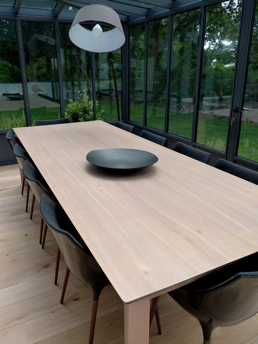 Agencement D Une Veranda Table Chene Massif 3 20m 10 Personnes