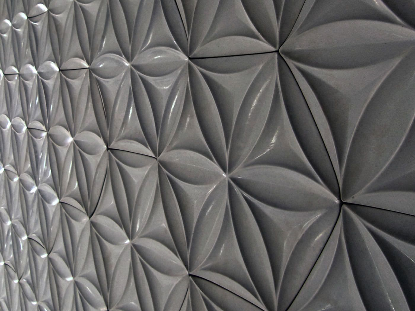 3d concrete wall tile geometric pattern flora hex daniel for 3d concrete tiles