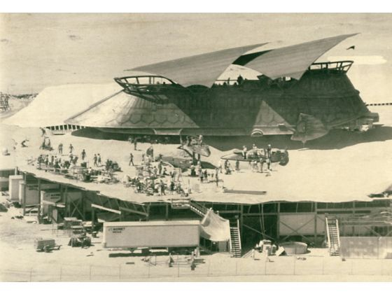 Construction Of The Barge Used In Return Of The Jedi Filmed In The