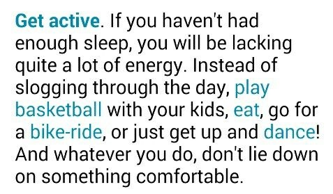 How to get energy if you're tired.