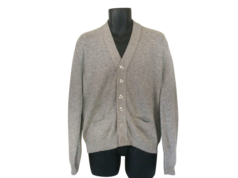 Vintage Grandpa Cardigan Gray Cardigan Men Gray Sweater Men Cardigan Sweater Grandpa Sweater Mr Rogers Sweater Mens Cardigan Sweater Grey Cardigan Cardigan Men