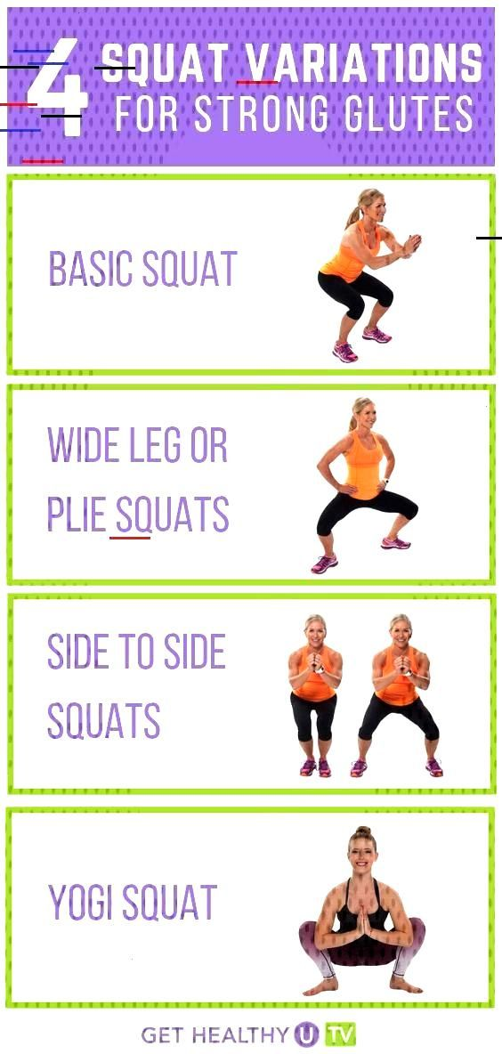 Squat Variations to Keep Your Muscles Working   GHUTV Squats are not only a great lower body exerci