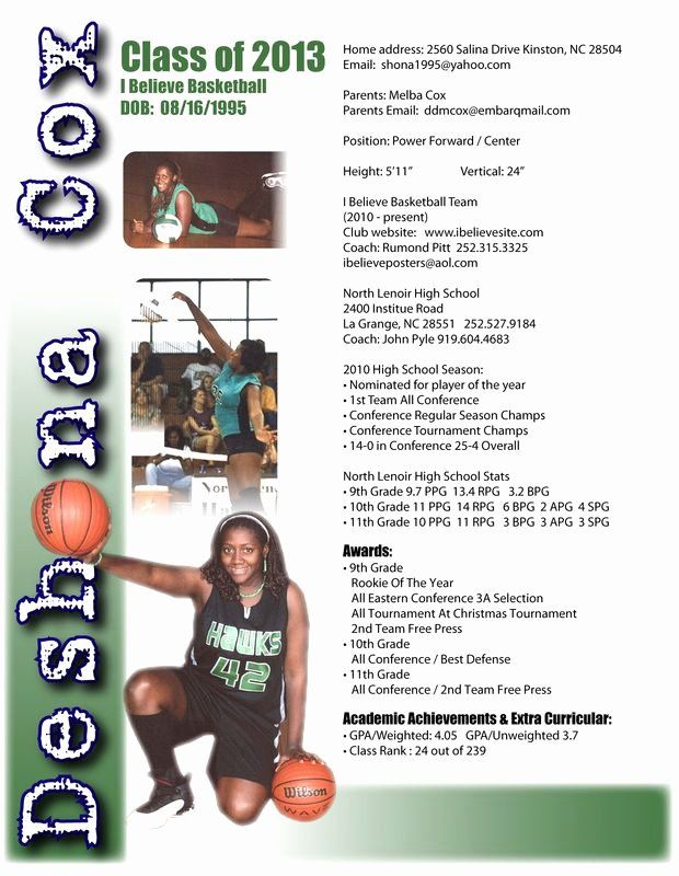 23 student athlete resume example in 2020