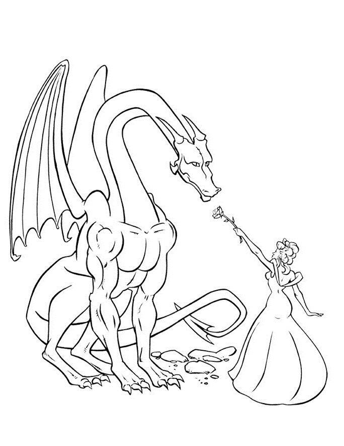 Princess Coloring Pages Fantasy Dragon Rhpinterest: Coloring Pages Dragon Princess At Baymontmadison.com