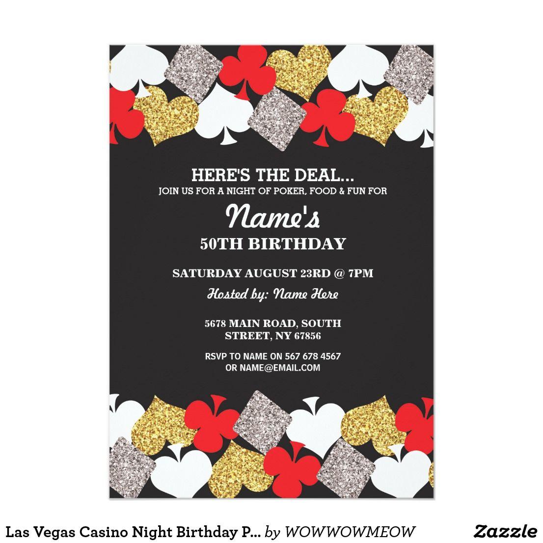 Casino Wedding Invitations: Las Vegas Casino Night Birthday Party Invitation