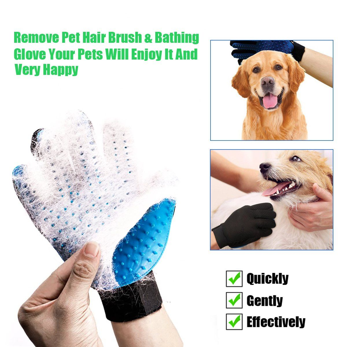 Pet Grooming Glove Pet Ninja Glove Amazingly Cat Glove Gentle