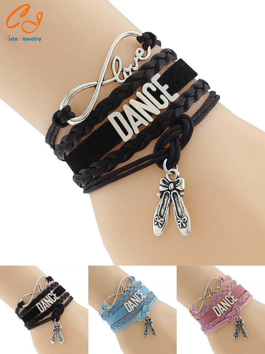 Visit to buy drop shipping infinity love dance bracelet custom