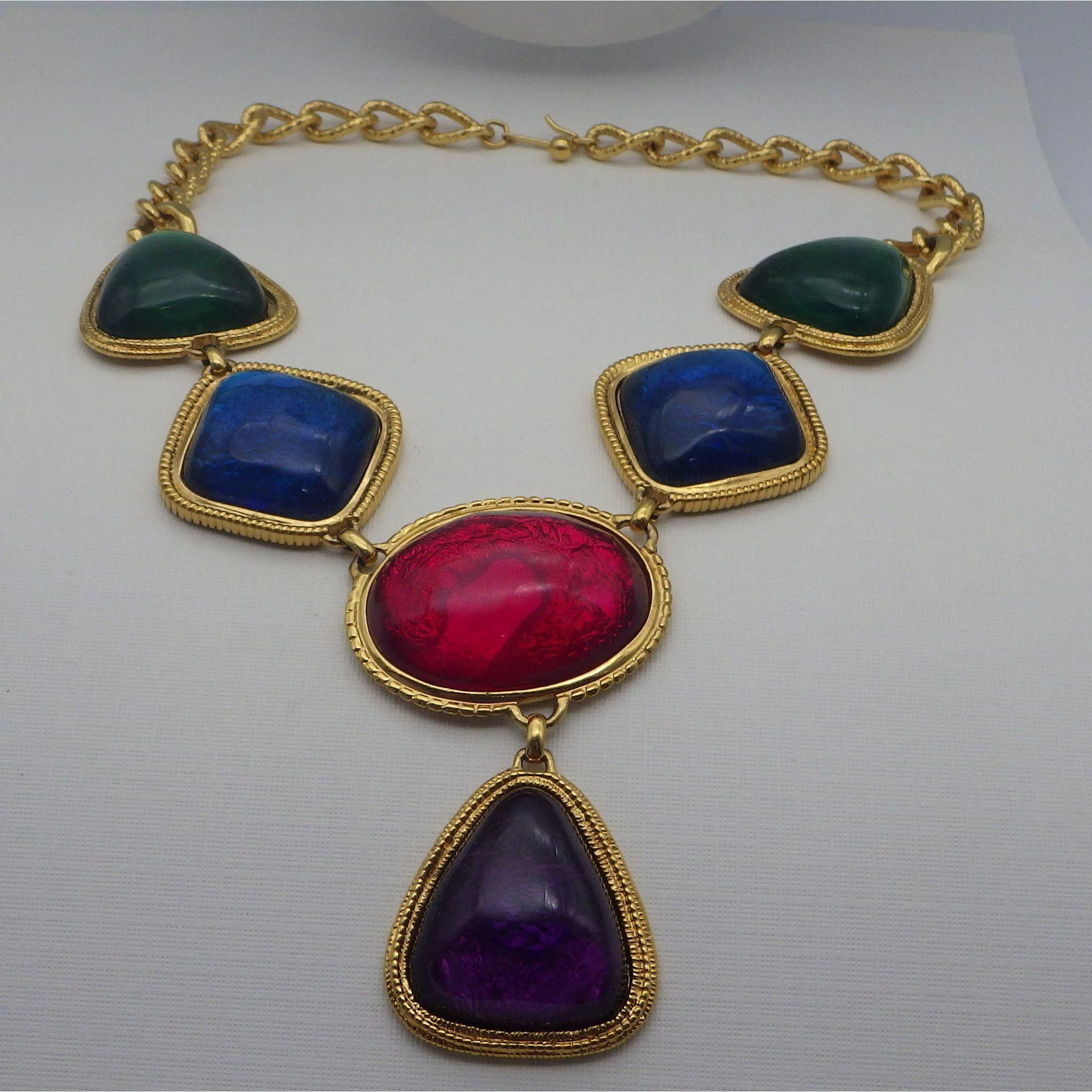 Found: An Amazing Vintage Jewel Tone Necklace from the1920s forecasting