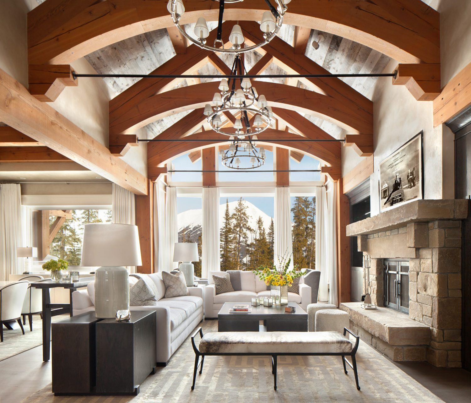 Construction Projects Prg Group Modern Rustic Living Room Modern Mountain Home Rustic Living Room [ 1283 x 1500 Pixel ]