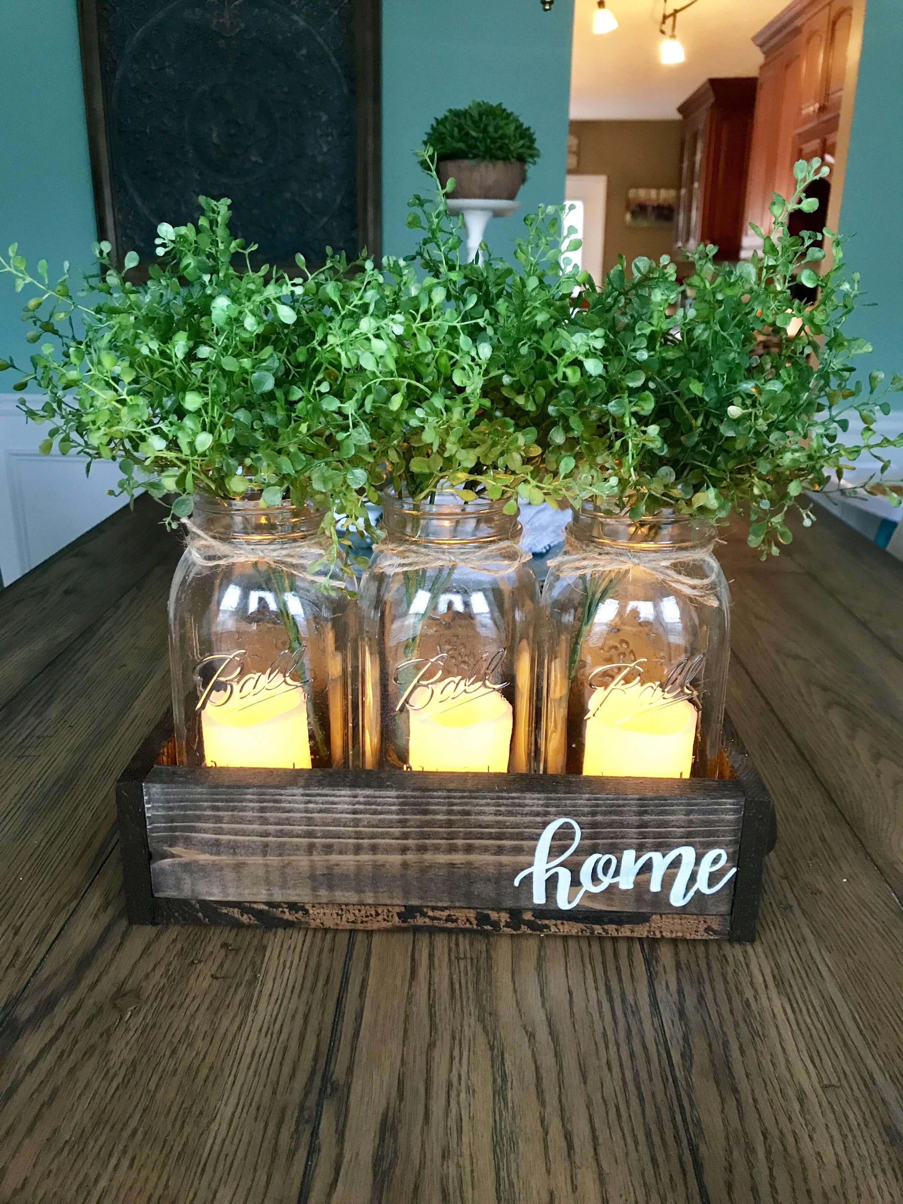 22 Best Farmhouse Indoor Plant Decor Ideas Designs For 2020 Mason Jar Centerpieces Jar Centerpieces Mason Jar Diy
