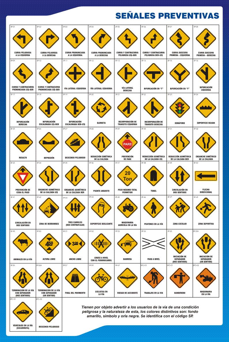 Señales De Transito Preventivas Señalamientos De Seguridad