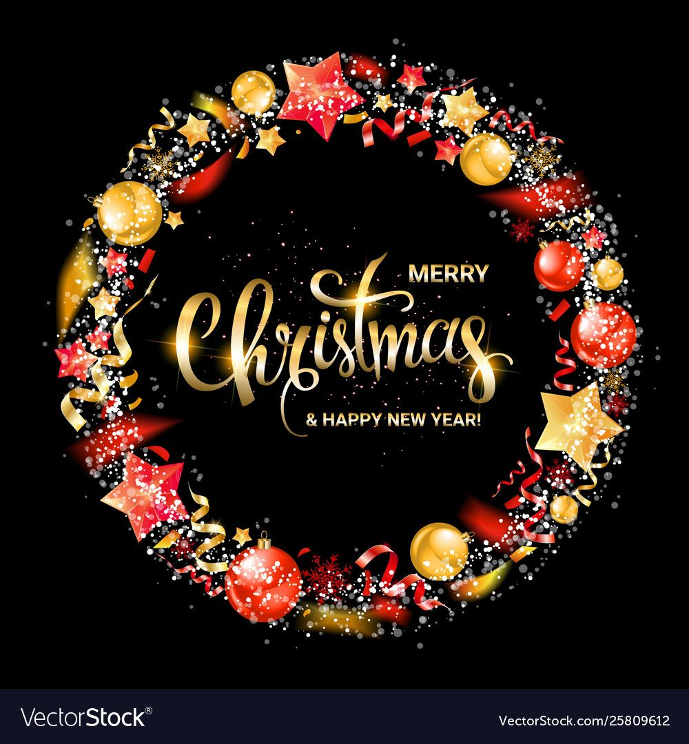 Merry Christmas And New Year 2020 Vector Image On Vectorstock New Year 2020 Christmas And New Year Merry Christmas And Happy New Year