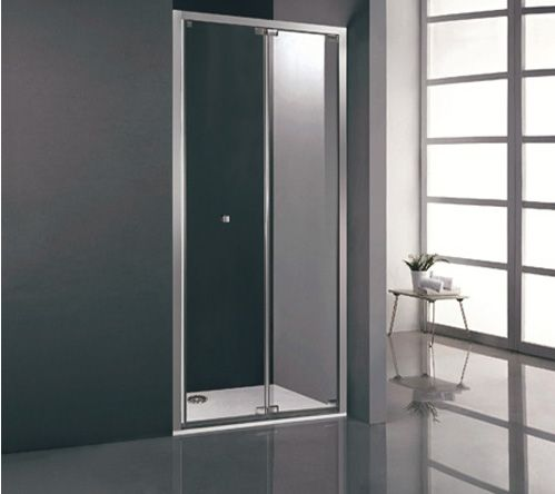 DUPLEX Mampara de ducha para espacios pequeños de dos puertas ...