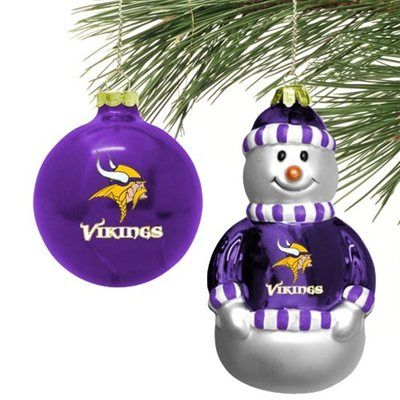 Minnesota Vikings Mini Blown Glass Ornament Set  Fanatics  43f6e084d