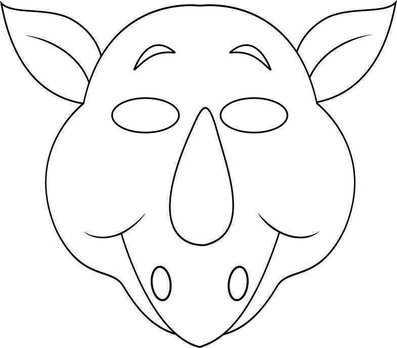 vbs jungle animal mask rhino bw free kids crafts art pinterest
