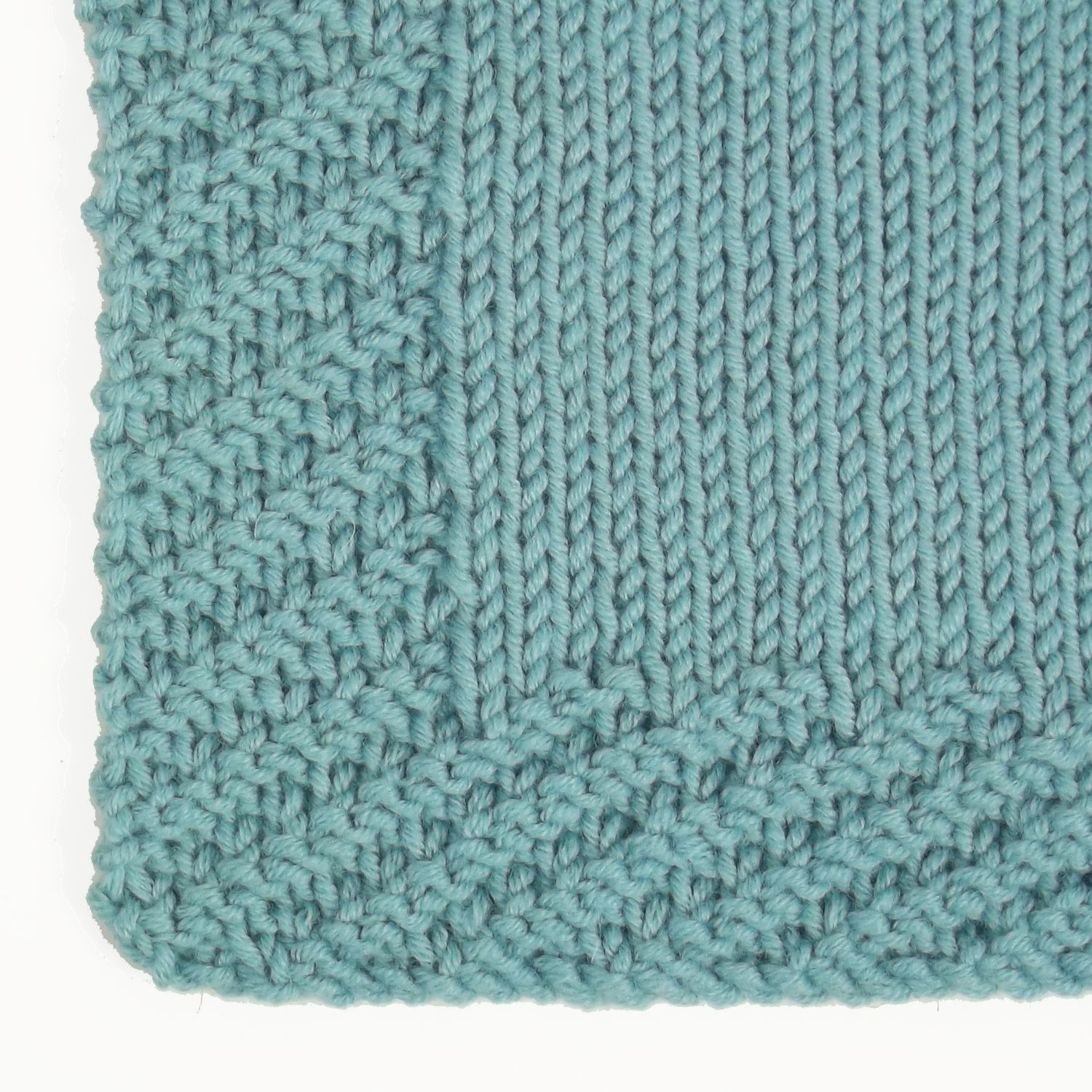 The Oblique Rib stitch is a great alternative to garter stitch borders. Use i...