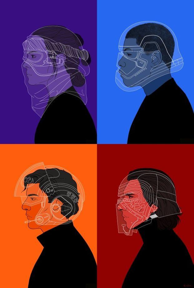 SW:TFA Group, an art print by Karina Gelencser